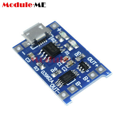 2/5/10PCS 5V Micro USB 1A 18650 Lithium Battery Charging Board Charger Module M