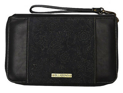 "New + Tags Billabong ""prosperity"" Ladies / Girls Clutch Leather Wallet / Purse"