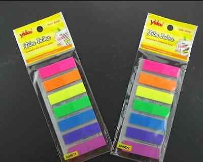140pages PVC Fluorescent 7 Colors Memo Stick/ Post-it note/ Sticky Memo Paper
