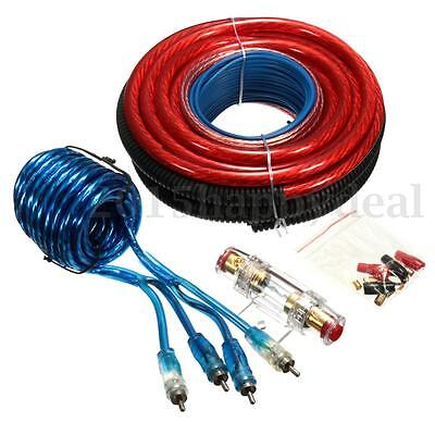 4-Gauge 2800W Power Wire Wring Connector Car Complete Amplifier Installation Kit