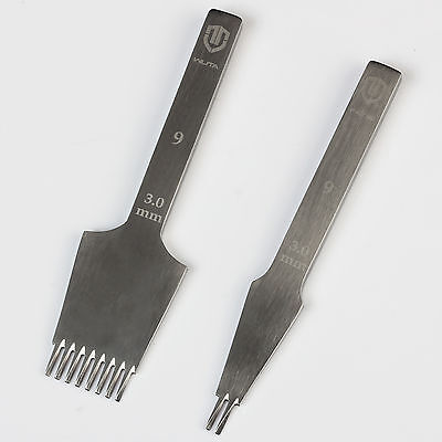 Wuta 3.0mm Pricking Irons Leather Stitching Lacing Hole Punch Chisel Diagonal