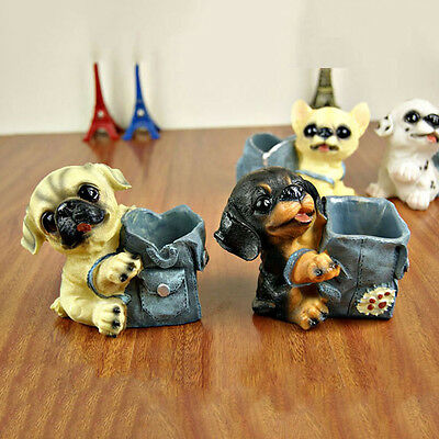 Dog penholder Creative Resin Home or Office Decoration Creative Handmade Gift