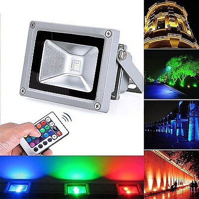10W Outdoor IP65 RGB LED Spot Flood Light Path Landscape Garden Security Lamp