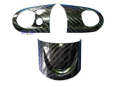 Carbon Steering Wheel Cover Set For Mini Cooper R55/R56/R57/R58/R59/R60 3pcs
