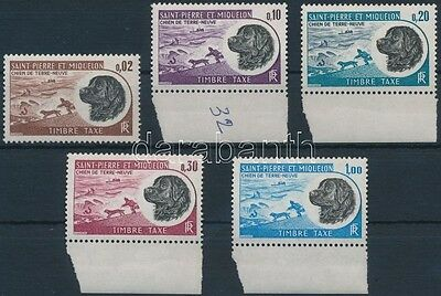 St.Pierre and Miquelon stamp sor Dogs Postage due set MNH 1973 Mi 77-81 WS199251