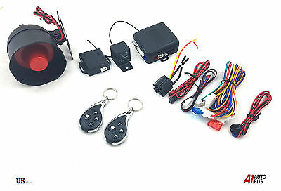 Remote Car Alarm Locking Immobiliser System Upgrade Kit Keyless Entry + 2 Fobs