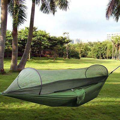 Outdoor Camping Hammock Parachute Fabric Hammock Portable  With Mosquito Net