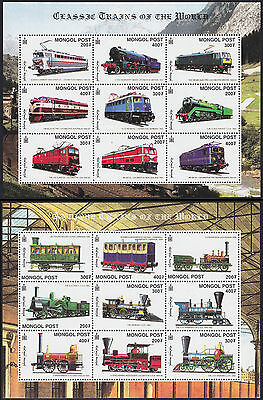 Mongolie N°2437L/2437U & 2437V/2437Ad** Bf Trains Locomotives 2000  Mongolia Nh