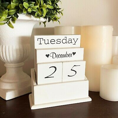 Calendar Box Wooden with Hearts 1st Birthday Signing Table Great Photo Prop