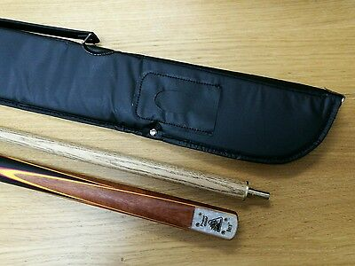 PowerGlide 2 Piece Aero Snooker Pool Cue Quick Thread Center Free Soft Case