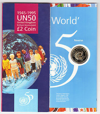 1995 United Nations Uncirculated £2 Coin Pack