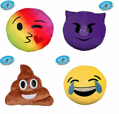 Cuscino Emoticon Peluche Emoji Whatsapp Facebook + Portachiavi Emoticon Omaggio