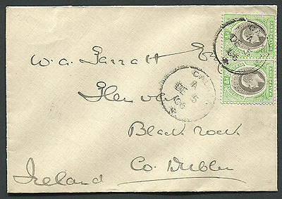 SOUTHERN NIGERIA: (1253) Ireland/excised cancel/cover