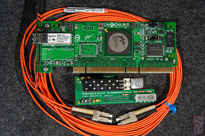 2Gbit Fiber/Fibre Channel kit -- T-Card with SFP, PCI card, LC-LC cable