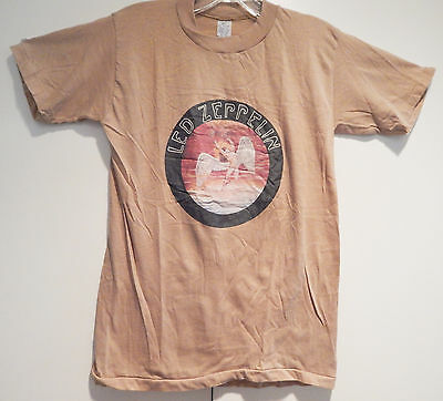 RARE Led Zeppelin T Shirt 1974 Swan Song Records Unworn Vintage