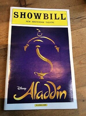 ALADDIN THE MUSICAL PLAYBILL BROADWAY 2016 DISNEY WHITE BOARDER NY New Variation