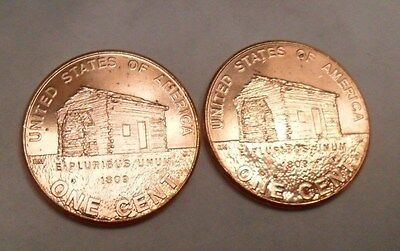 2009 P & D Lincoln Birthplace Cent / Penny Set Bu - Uncirculated *free Shipping*