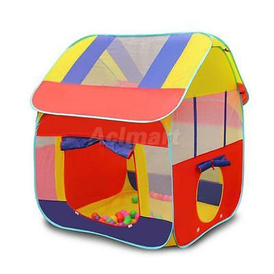 Kids Pop Up Indoor & Outdoor Playground Ball Pit Play Tent Hut Fun Game Toy