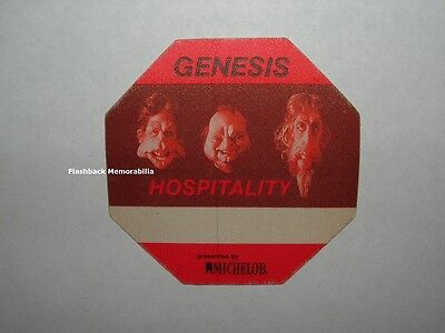 GENESIS BACKSTAGE PASS 'The Final Leg' Tour OTTO Satin HOSPITALITY Red OCTAGON