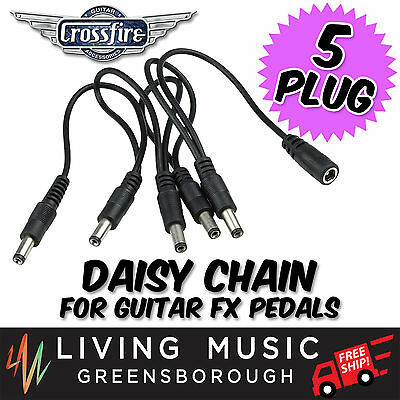 New Crossfire 5 Plug Daisy Chain for Guitar Effects Pedal
