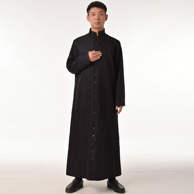 New Clergy Priest Cassock Roman/Orthodox Robe Single Breasted Button Vestments