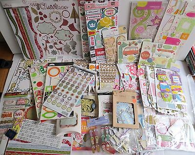 Huge lot of Scrapbooking Cards Crafts Embellishment Chipboard Themes Colors
