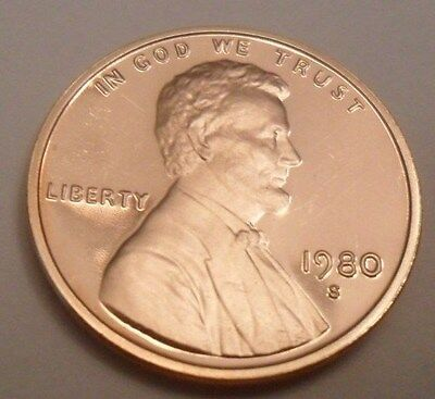 1980 S Lincoln Memorial *proof* Cent / Penny **free Shipping**