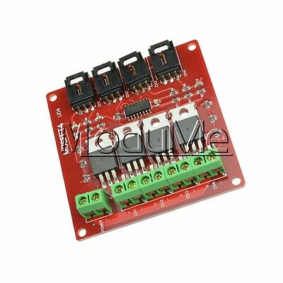 Four Channel  4 Route MOSFET Button IRF540 V2.0+ MOSFET Switch Module Arduino M