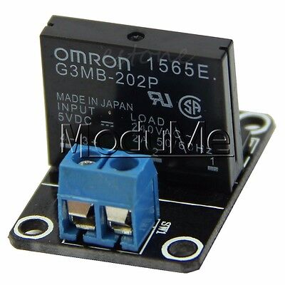 5V 1 Channel Solid State Relay OMRON SSR G3MB-202P with Resistive Fuse Module