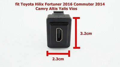 HDMI PORT FIT TOYOTA HILUX  FORTUNER 2016 DASHBOARD PANEL HOLE SIZE 3.2 X 2.3 cm