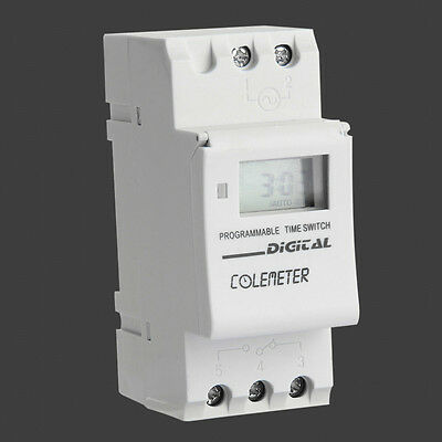 ColeMeter LCD Digital Week Programmable Timer Time Relay Switch AC 180-264V