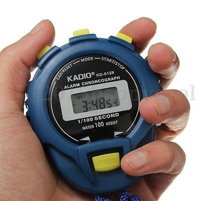 Water Proof Resist Electronic Digital Chronograph Time Stop Watch Sport Odometer