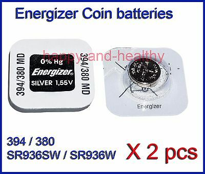 Energizer SR936W SR936SW 380 394 Silver Oxide button Battery x2 pcs FREE Post