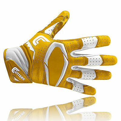 Cutters S451 REV PRO 2.0 American football receiver gloves, gold