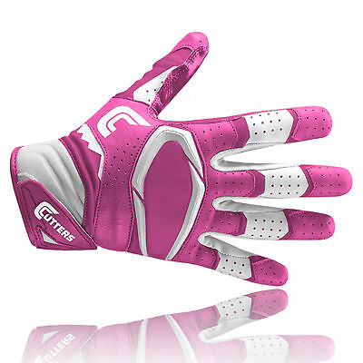 Cutters S451 REV PRO 2.0 American football receiver gloves, pink