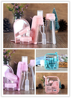 Portable Pink Plasic Travel Kit Make Up Spray Bottle Refillable Cosmetic Bottles