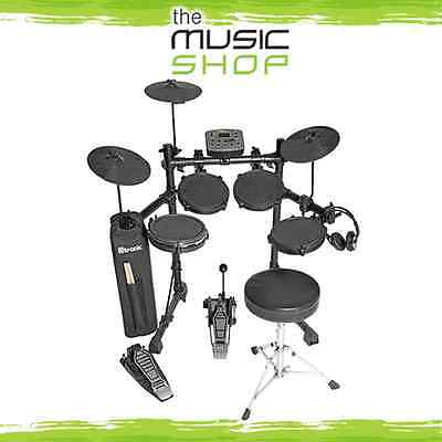 D-Tronic 8 Piece Electronic Drum Kit with Stool & Headphones - Electric Drumset