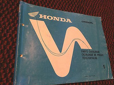 Genuine Honda CR500RL Parts List Catalogue Manual Book 13ML3L21