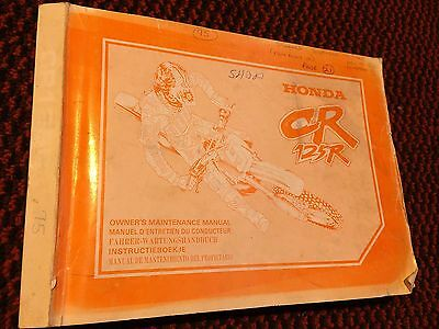 Genuine Honda CR125R 1994 Owners Maintenance Manual Book 69KZ46100