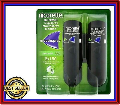 Nicorette Quickmist Duo Mouthspray Freshmint 2 x 150 Spray