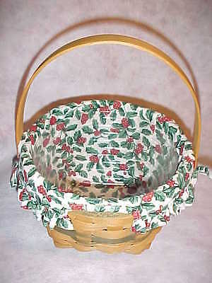1994  Jingle Bell Traditions Longaberger Christmas Collection Green Basket