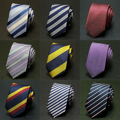 New Mens Ties Silk Tie Men Striped Necktie Jacquard Woven Fashion Classic 2017
