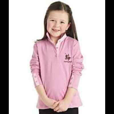 Harry Hall Childs Catterick Top - Junior Horse Riding Top - Rose Pink - 3/4yrs
