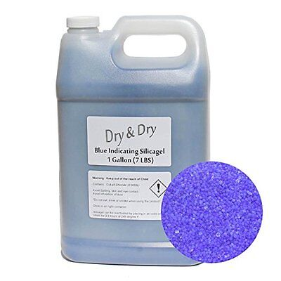 1 Gallon Blue Replacement Desiccant Indicating Silica Gel Beads - 7 LBS Reusable