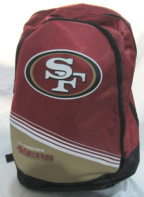 08f41bb8 NFL SAN FRANCISCO 49ers 2015 Stripe Core Logo Backpack by Forever  Collectible