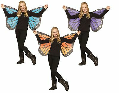 Soft Monarch Butterfly Wings Girl Halloween Costume Accessory Orange Blue Purple