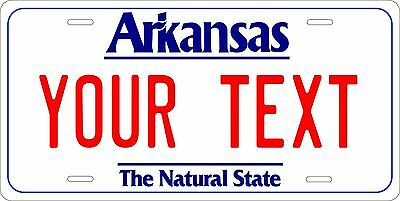 ARKANSAS Licence Plate CUSTOM Ak auto tag THE NATURAL STATE Car Truck Vanity