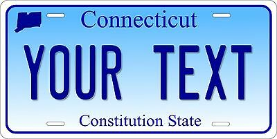 CONNECTICUT Licence Plate CUSTOM CT auto tag CONSTITUTION STATE Car Truck Vanity