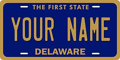 DELAWARE Licence Plate CUSTOM DE auto tag THE FIRST STATE Car Truck Vanity