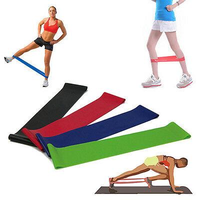 Tension Resistance Band Exercise Loop Strength Weight Training Fitness New AUIJ